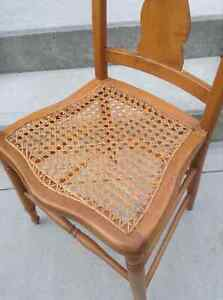 Side Chair with Woven Seat London Ontario image 2