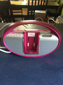 Pink iPod Portable Music System