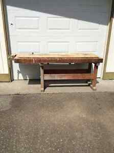 Antique Wood Working Bench