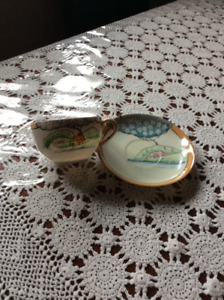 Unique tea cup and saucer