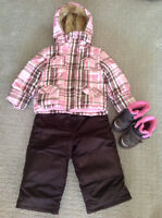 2T Girls Snow Suit & Size 7 Boots