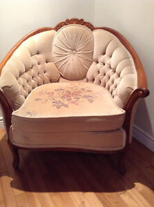 French Provincial sofa and chair set