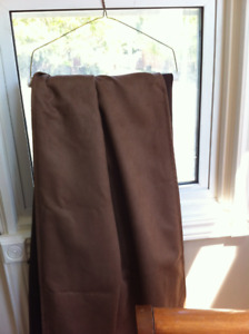 RICH CHOCOLATE ULTRA SUEDE CURTAINS