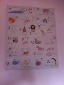 Children's animal abc canvas