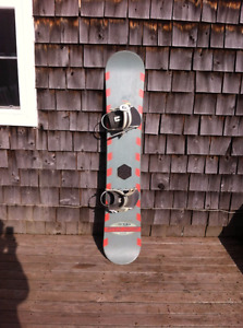 153 cm Star Dust Pink and Grey Snowboard