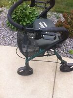 Walker with brakes and basket and back rest