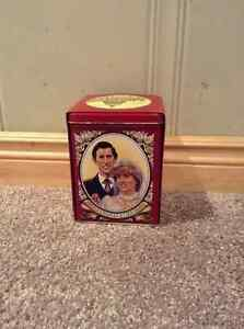 Prince Charles and Lady Di tea box and package.  Lyons tea.
