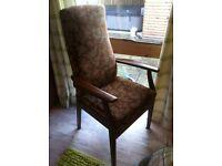 Parker knoll high back arm chair