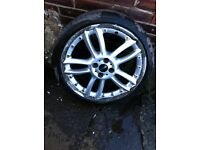 Genuine two piece BBS mini alloys 18""