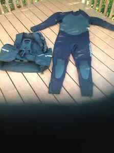 ScubaPro Wet Suit and Sherwood BC and fin's
