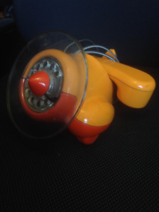RARE Alexander Graham orange airplane phone