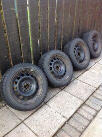 Bmw steel wheels & winter tyres
