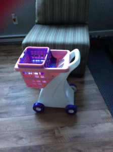 Fisher Price shopping cart with basket