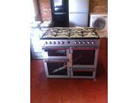 FLAVEL mln10frs NEW 7burner cooker dual fuel 100cm PRP £749.99 warranty included Range cooker***