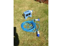 Mobile Mains Internal Supply Unit and Cable