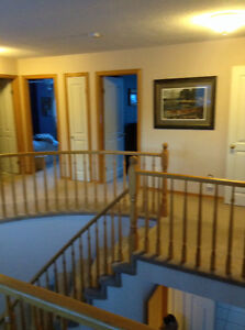 Oak stair spindles for railing