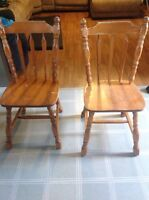 2 wood chairs for $20