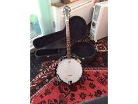 Tenor banjo hard case and strap (countryman)