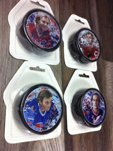 rondelles  homage Guy Lafleur hockey canadien rangers puck