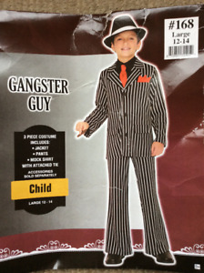 Gangster costume - child size large (12-14)
