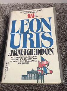 Leon Uris novel with plastic dust cover.