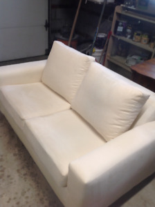 Beautiful Cream Couch/ folds into Memory Foam Bed