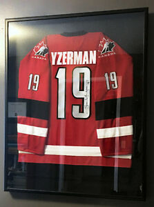 Steve Yzerman Autographed & Framed Team Canada Jersey w/ COA