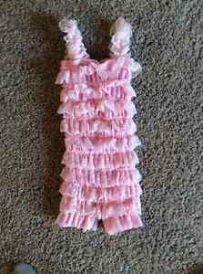 Baby Pink Lace Romper, 12-18 months Sarnia Sarnia Area image 1