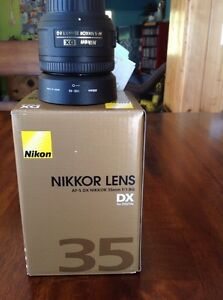 Nikkor prime lens F1.8  still under warranty Prince George British Columbia image 3