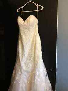 A beautiful wedding dress.