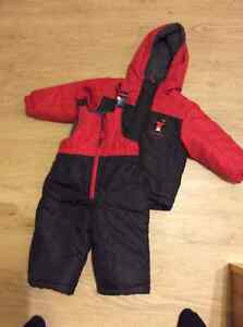 Carter's snow suit 12-18 months red and black