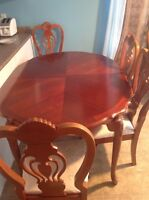 dinning table - 6 chairs $395