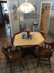 Solid Kitchen Table with 4 Chairs included