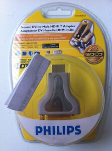Philips Female DVI to Male HDMI Adapter - NEW