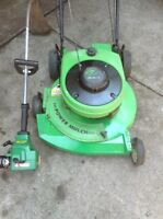 $200 PACKAGE DEAL -LAWNMOWER & TRIMMER