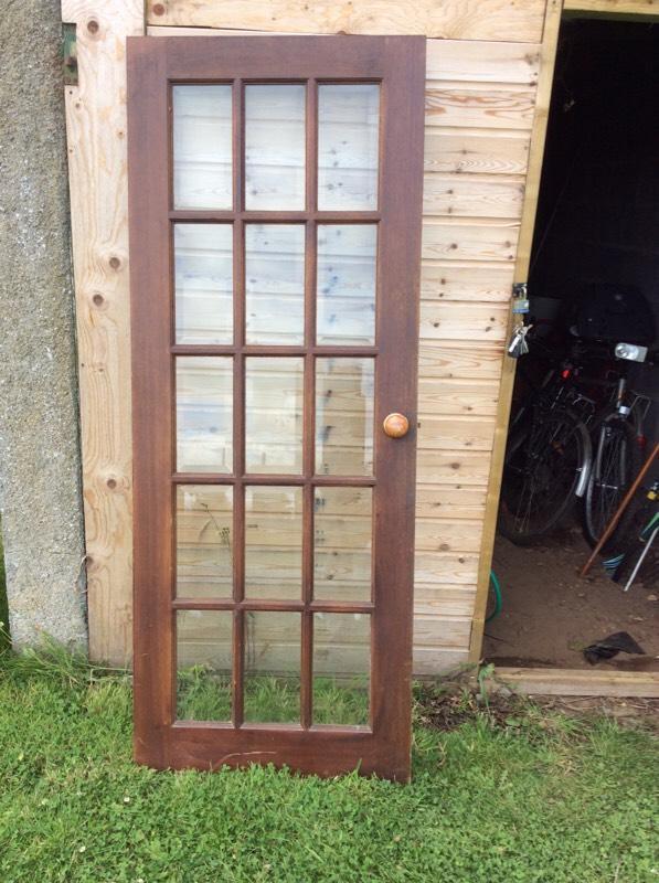 Internal 15 pane glass wood door in inverness highland for 15 window pane door