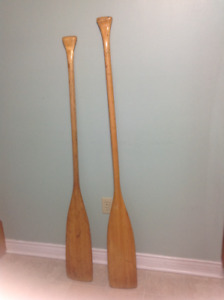 """Paddles - 2 @ 57"""" & 60"""" long for canoe - may be sold separately"""