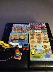 Melissa & Doug toys and fisher price development toys
