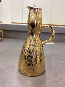 24k Weeping Gold Coated Vase