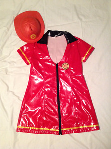 Fire Fighter Ladies' Dress-type Costume with matching hat