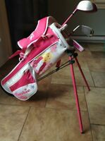 Junior girls right handed Barbie golf clubs age 4-6 yrs