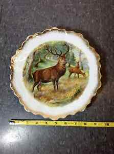 Vintage Bavaria Punch Z.S & Co scalloped edge buck plate