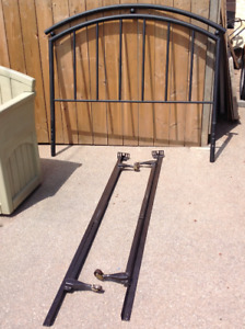 """54""""W Double size Head Board and metal bed frame - all for $50"""