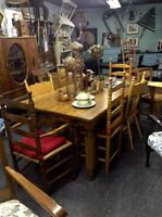 MENNONITE MADE SOLID Oak HARVEST TABLE -now $380