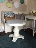 Gorgeous Solid Large Round Pedastal Sidetable