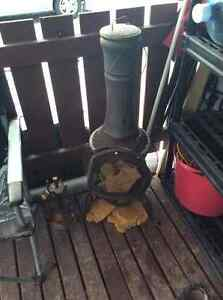 Cast Iron Chiminea Pot Belly Wood Heater Prince George British Columbia image 1