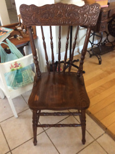 Variety of vintage chairs