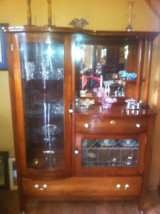 Antique Curio Cabinet Refinished NEW PRICE!