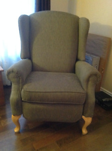 Fauteuil inclinable style bergère
