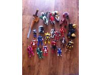 Power ranger figures including mega sword